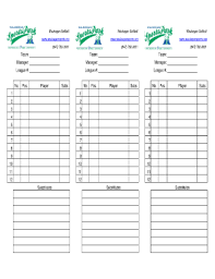 official lineup card forms and templates fillable u0026 printable