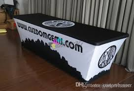8 ft table cloth with logo custom printed spandex table covers trade show tablecloth 6ft within