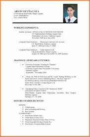 resume for application format resume application format sop