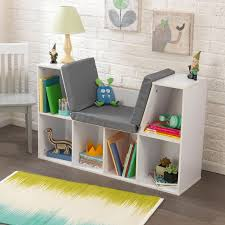 Firehouse Bookcase Bookcase With Reading Nook White By Kid Kraft Rosenberryrooms Com