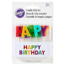 happy birthday candles wilton happy birthday candle set 13ct target