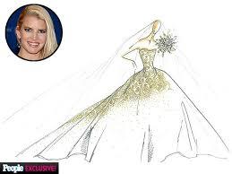 jessica simpson wedding dress sketch jessica simpson carolina
