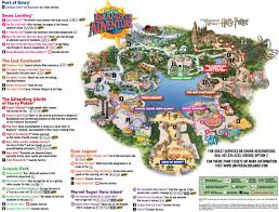 Orlando Attractions Map by Universal Orlando Maps