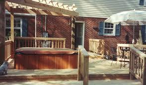 pergola over tub u2013 add a deck