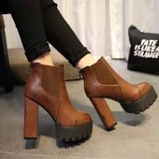 womens motorcycle boots size 9 winter chelsea chunky shoes ankle boots platform block high