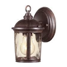 Light Fixture Replacement Parts by Hampton Bay Leeds Mystic Bronze Outdoor Wall Lantern Hb7261 293