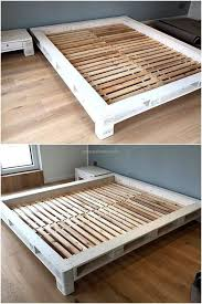 Diy Pallet Bed With Storage by Bed Frames Pallet Bed With Storage Tutorial Pallet Queen Bed