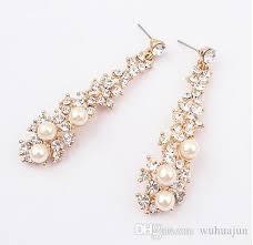 golden earrings european and american fashion boutique pearl earrings women