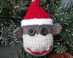 knitting ornament etsy