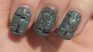 arcadianailart double layered shatter u0026 crackle nail art ideas