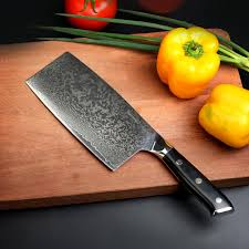 kitchen cutting knives sunnecko 7 inches cleaver chopping knife damascus steel new high
