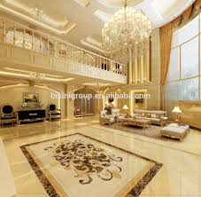 graceful european style villa foyer interior design 3d rendering