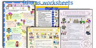 english teaching worksheets idioms