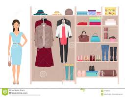 Dressing Wardrobe by Beautiful Fashion Lady And Women S Wardrobe Vector Women S