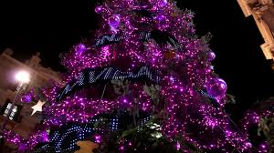 high pink led light tree decorations on