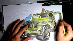 jeep drawing drawing jeep minguerra youtube