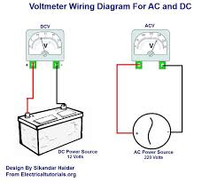 ac and dc voltmeter wiring diagram electrical tutorials urdu hindi