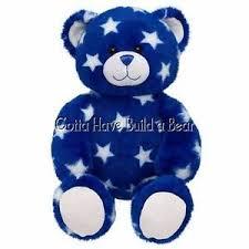 build a unstuffed build a 16 blue style teddy unstuffed plush animal nwt ebay