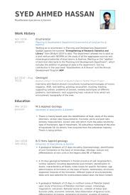 Geologist Resume Template Enumerator Resume Samples Visualcv Resume Samples Database