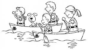 canoeing coloring pages 8 canoeing kids printables coloring pages