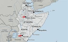 africa map eritrea horn of africa somalia kenya eritrea djibouti