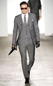 mens light gray 3 piece suit karl marx presents the latest bourgeois fashions nice suits grey