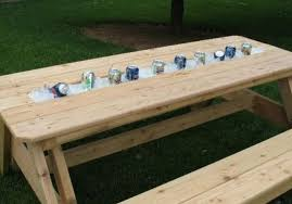 Patio Cooler Table Awesome Diy Patio Table With Built In Beverage Cooler