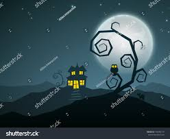 scary halloween nights haunted house dead stock vector 146946779