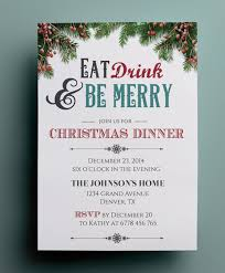 Christmas Dinner Party Invite Template