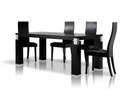 Black Modern Dining Room Sets Escape Black Oak Dining Table