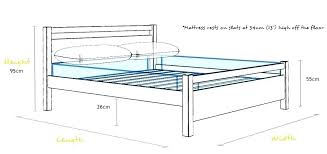 Height Of Bed Frame Height Of Bed Frame Superfoodbox Me
