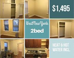 2 bedroom apartments for rent in hoboken 2 bedrooms 1st floor rail road apartment millenials renovated