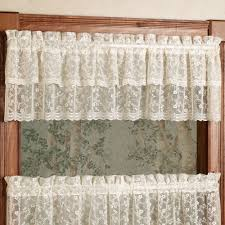 bridal lace tier window treatment