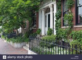 house on beacon hill boston massachusetts stock photo royalty