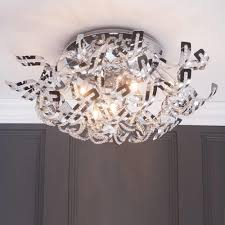 twirl semi flush ceiling light 9 light chrome from litecraft