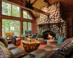 Decorating Den Interiors by Lake House Interior Designer Louisville Ky Vacation Cabin