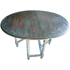 Drop Leaf Farm Table 19th Century Oak Carved Top Drop Leaf Table With Gate Leg And