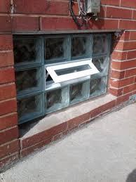 Glass Block For Basement Windows by Glass Block Basement Window Open Vent