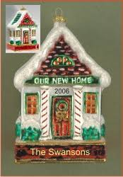new home welcome glass personalized ornaments by