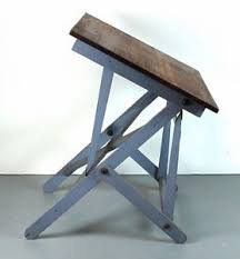 Dietzgen Drafting Table Vintage Dietzgen Industrial Wood Folding Artist Drawing Drafting