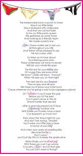 Bridal Shower Gift Poems Panty Poem For Lingerie Bachelorette Party By Thecottongin On