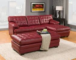 Sofa Set Leather by Homelegance Brooks Sectional Sofa Set Red Bonded Leather