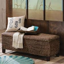 Seagrass Storage Ottoman Adorable Wicker Storage Ottoman Solano Storage Bench And Ottoman