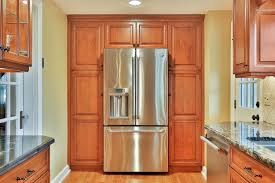 custom cherry cabinet kitchen manasquan new jersey by design line counterdepth refrigerator idea plenty of cabinet storage