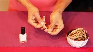 How To Decorate Nails At Home French Manicure Hack Use A Rubber Band Today Com