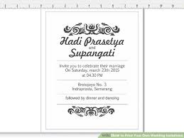 your own wedding invitations 7 ways to print your own wedding invitations wikihow