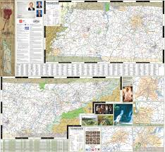 Tennessee State Parks Map by Large Detailed Tourist Map Of Tennessee With Cities And Towns