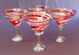 candy cane martini red u0026 white swirl martini glasses 12 oz set of four glasses
