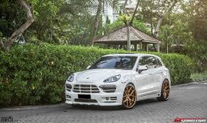 gold porsche cayenne porsche cayenne diesel on gold pur wheels by premier autowerkz