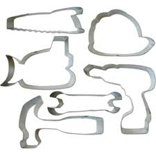 construction cookie cutters set tin